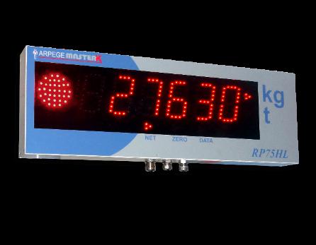 Répétiteur de poids RP75-HL avec feux bicolore
