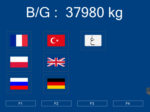 ecran pesage multi langue