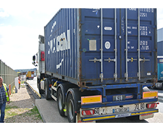 chauffeur pesage containeur